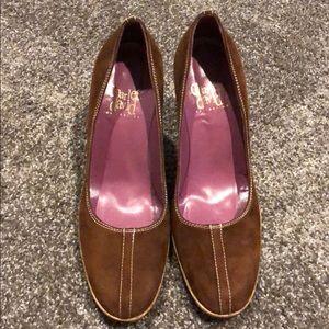 Charles David brown saddle color high heels